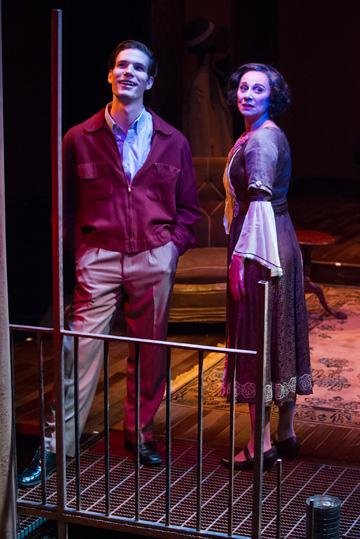 John Glowacki and Angela Iannone as Tom and Amanda.