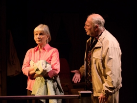 Susan Sweeney (Peg) and James Pickering (Gunner).