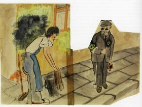 All Sidewalks Will Be Scrubbed. Ghetto period, Terezin, 1943