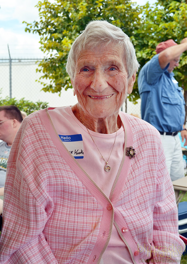 Now considered the grande-dame of the little picnic, the 99-year-old Lorraine Konkel was married to John (the last child born on the island) and produced 16 children.