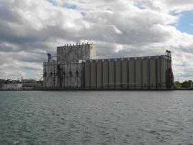 Grain elevator at the inner harbor