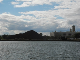 View of the final coal pile
