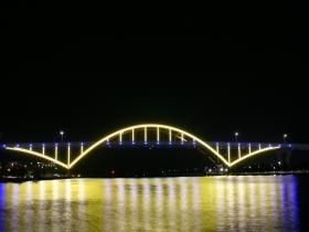 Milwaukee Brewers Light Scheme - Hoan Bridge
