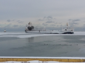 Peter R. Cresswell 1/5/15  first ship into Port in 2015  with salt.
