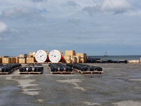 Mining Equipment staged to go out to Sweden, May 2015