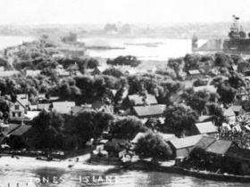 The idyllic fishing village, as seen in a popular panorama that every Kaszube family has a copy.