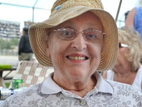 Joan Konkel is one of only a few with direct ties to living on the island. She held a special place of court alongside Lorraine.