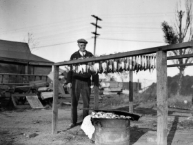 One of the common ways to prepare the daily catch was by drying the fish out.