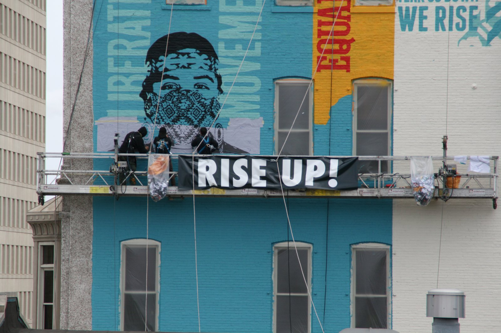 Obey Giant Painting Mural