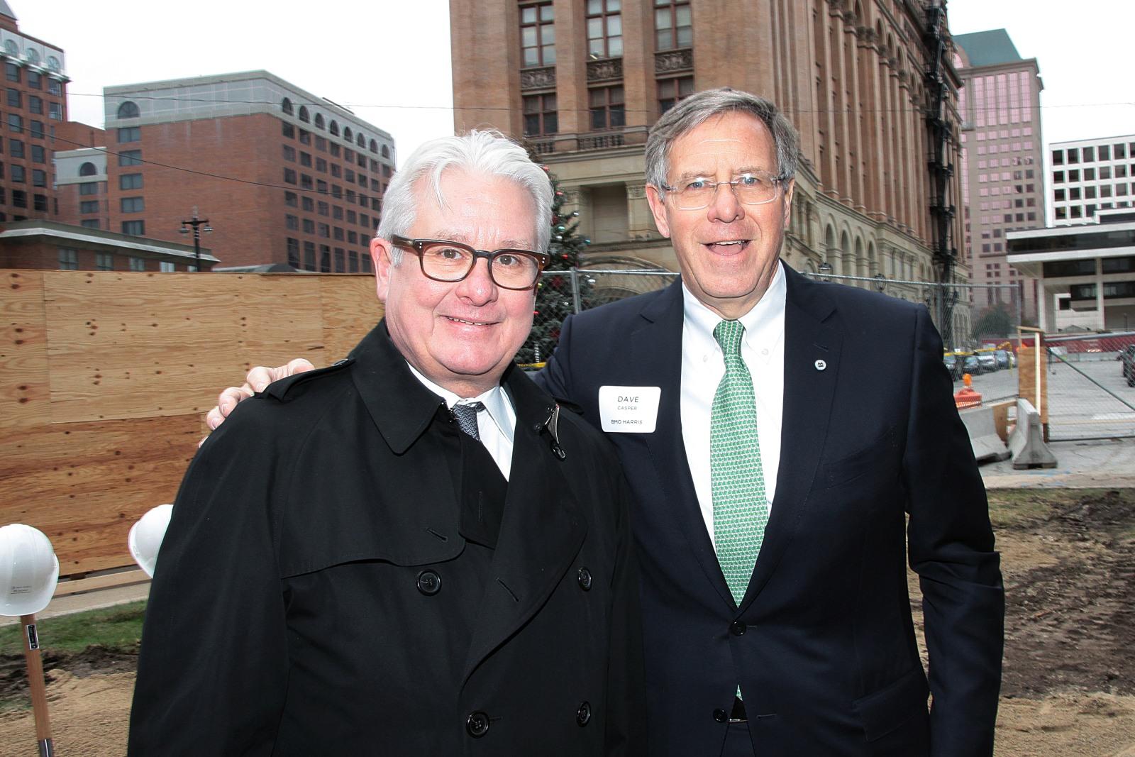 Mark Irgens and BMO CEO David Casper