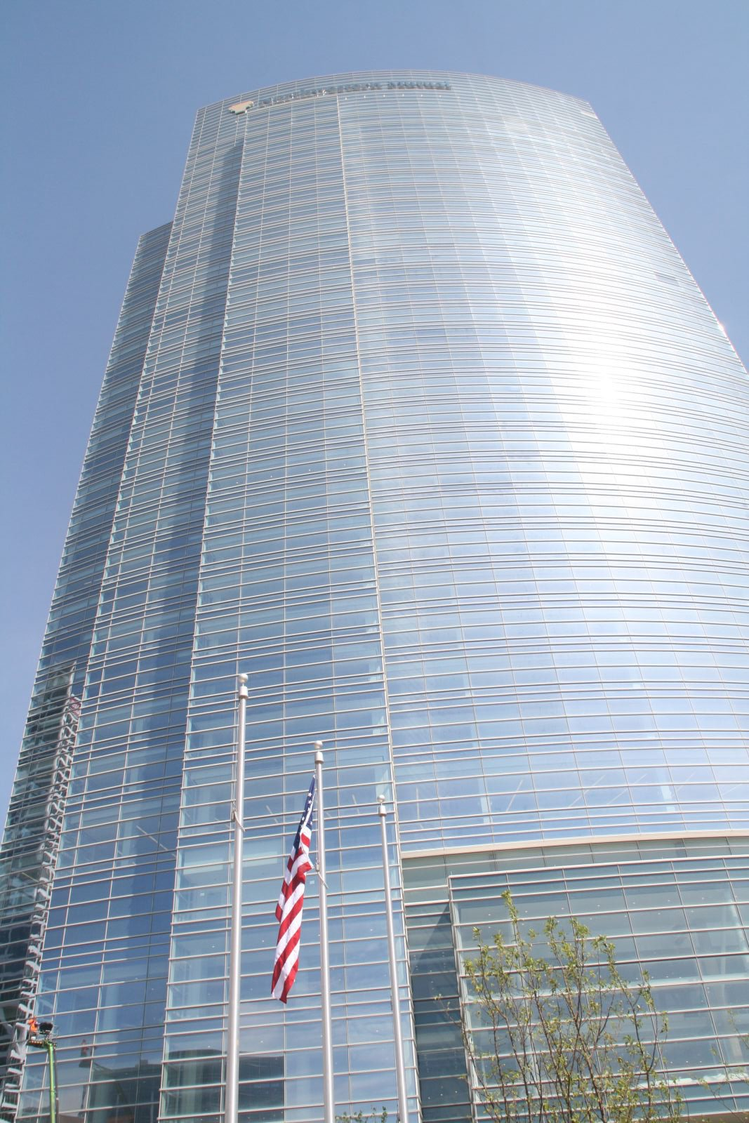 American Flag and Northwestern Mutual Tower