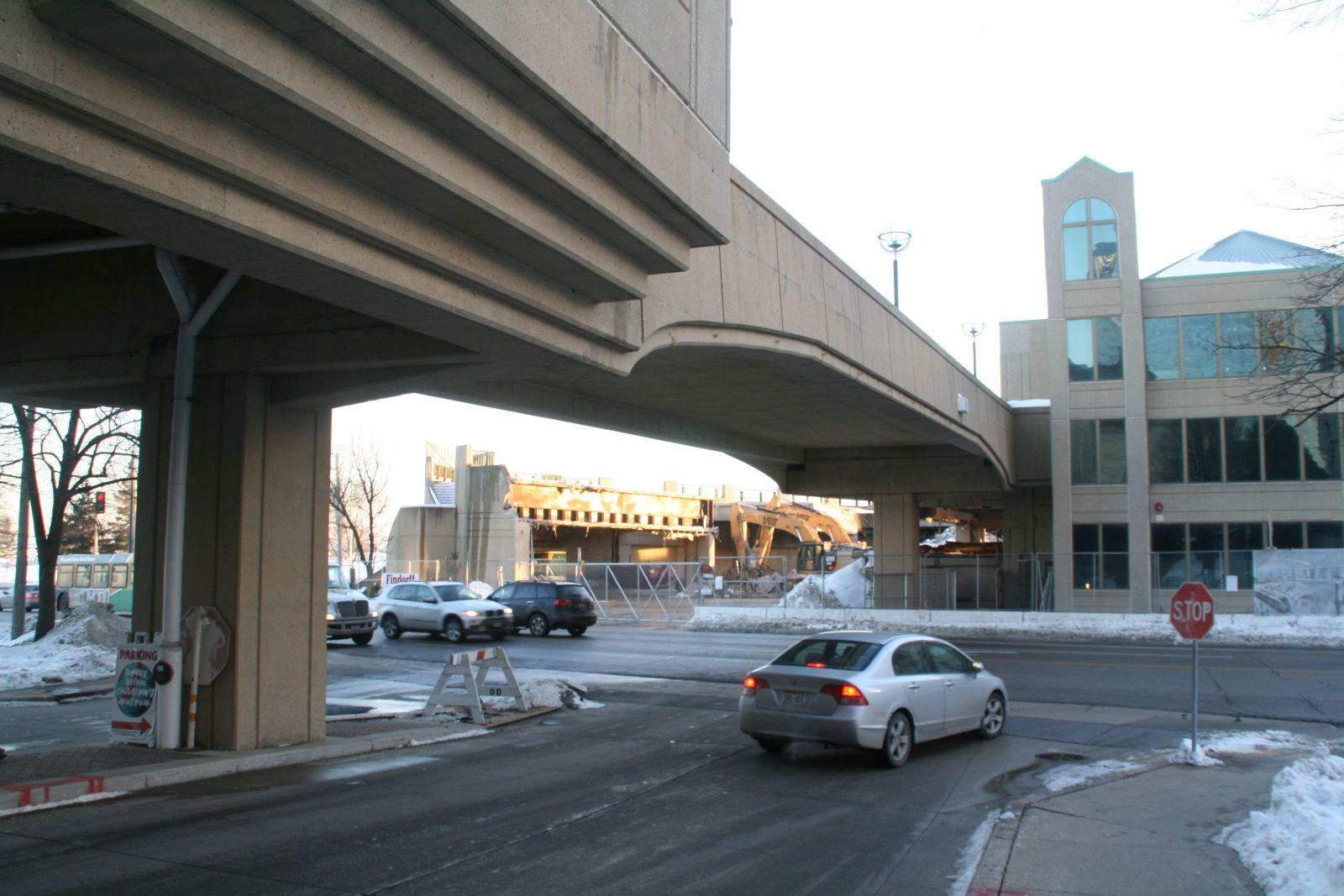 Downtown Transit Center Destruction