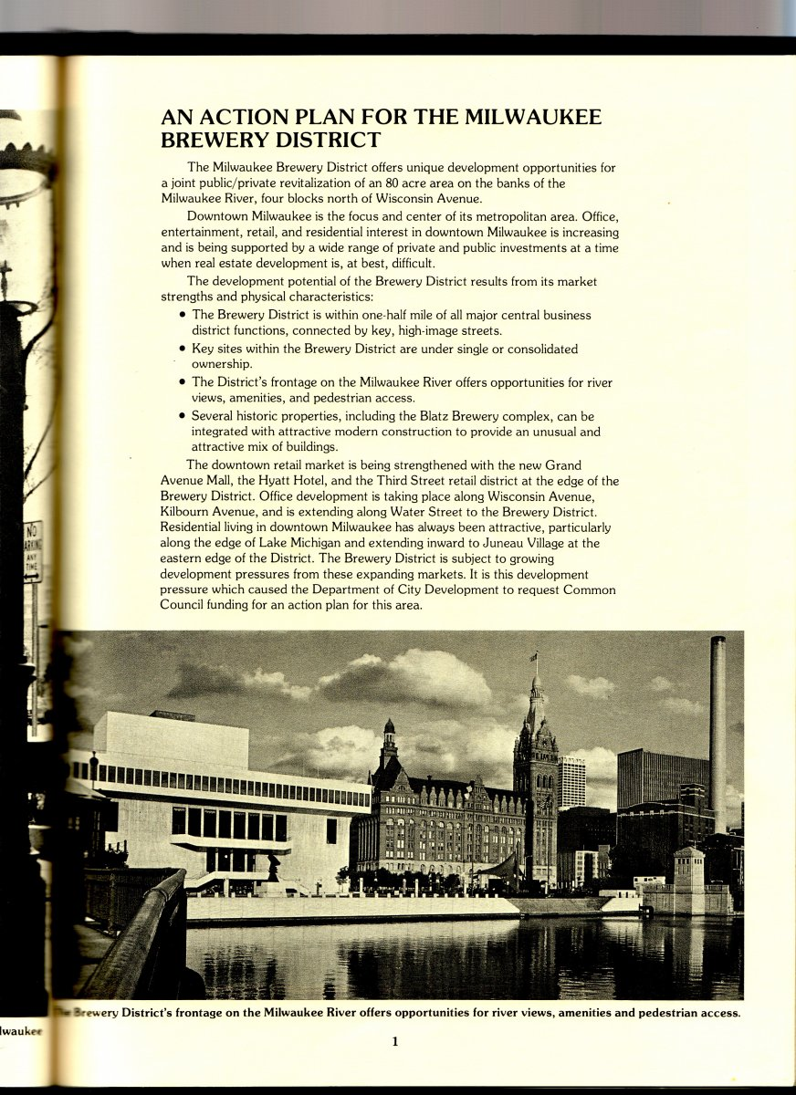 Page 01 - Milwaukee Brewery District Action Plan