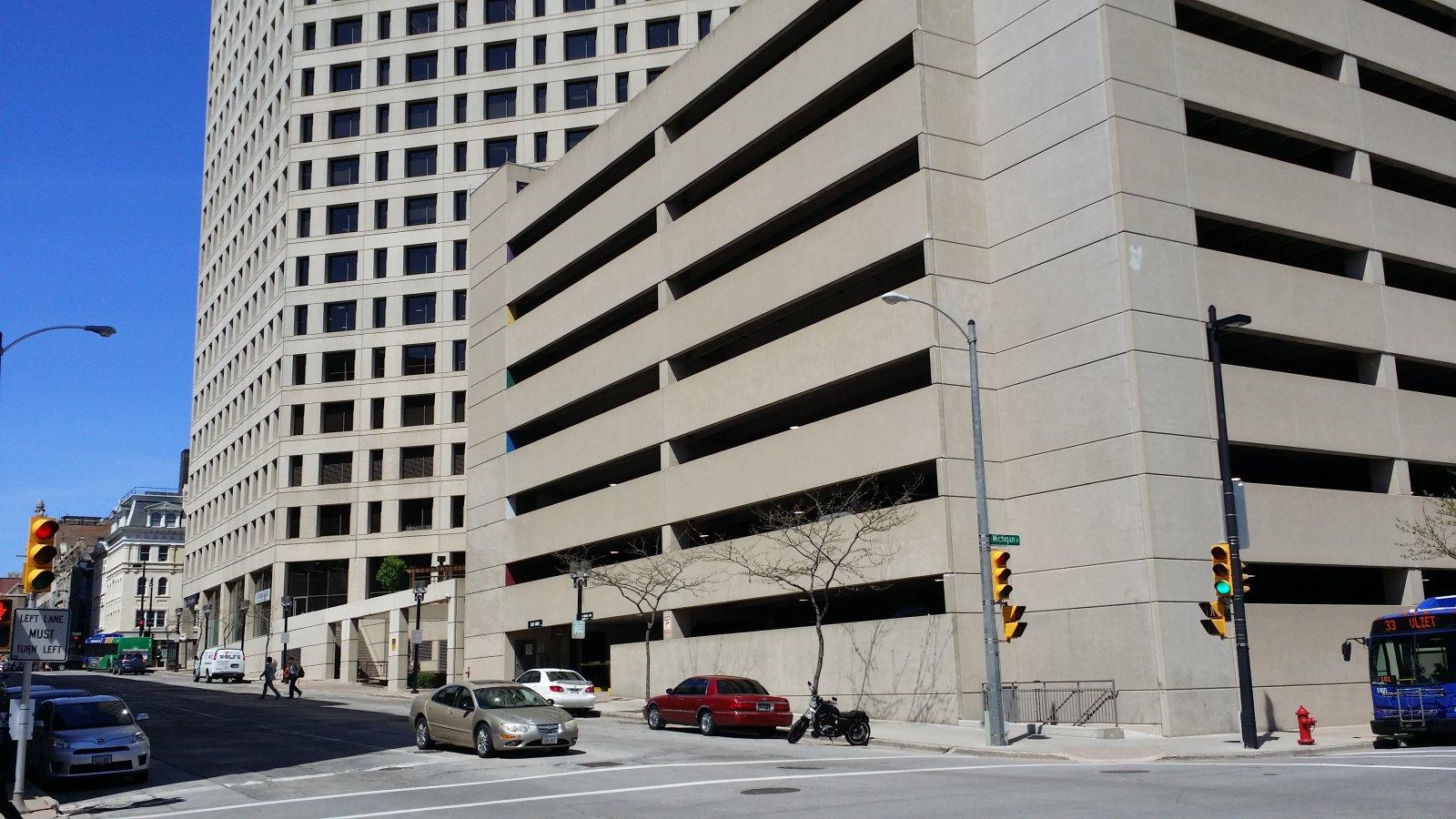 411 Building parking garage.