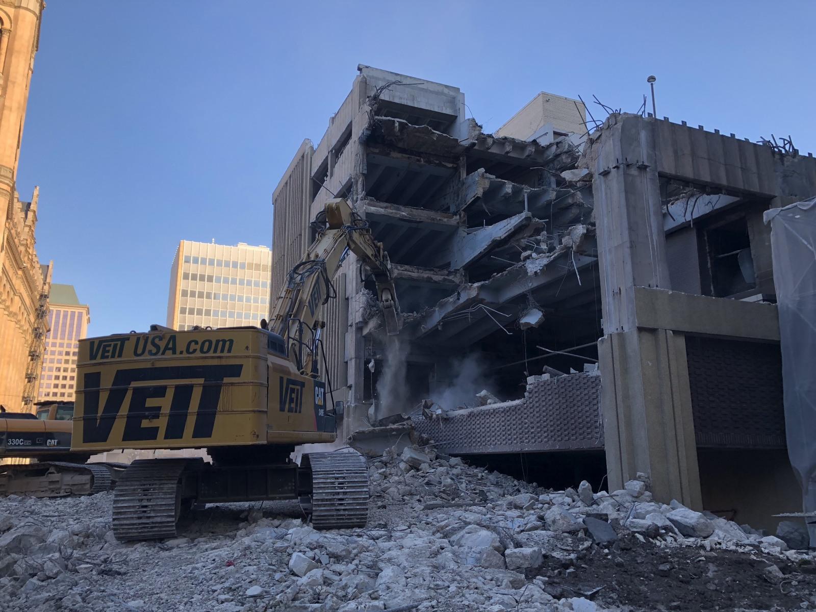 BMO Harris Parking Garage Demolition