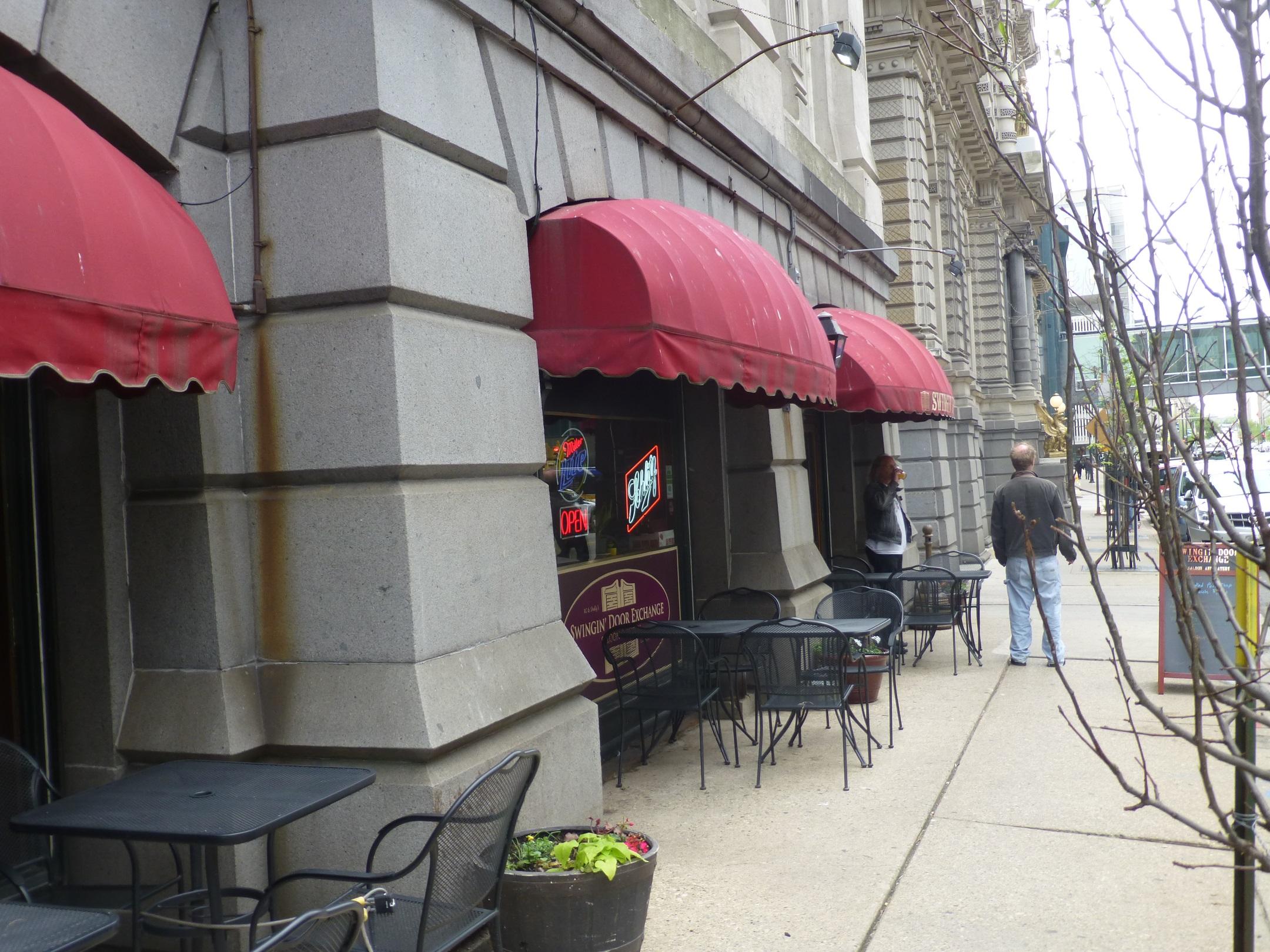 The Swingin\' Door patio.