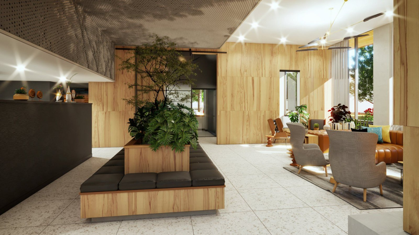 Ascent Lobby Rendering