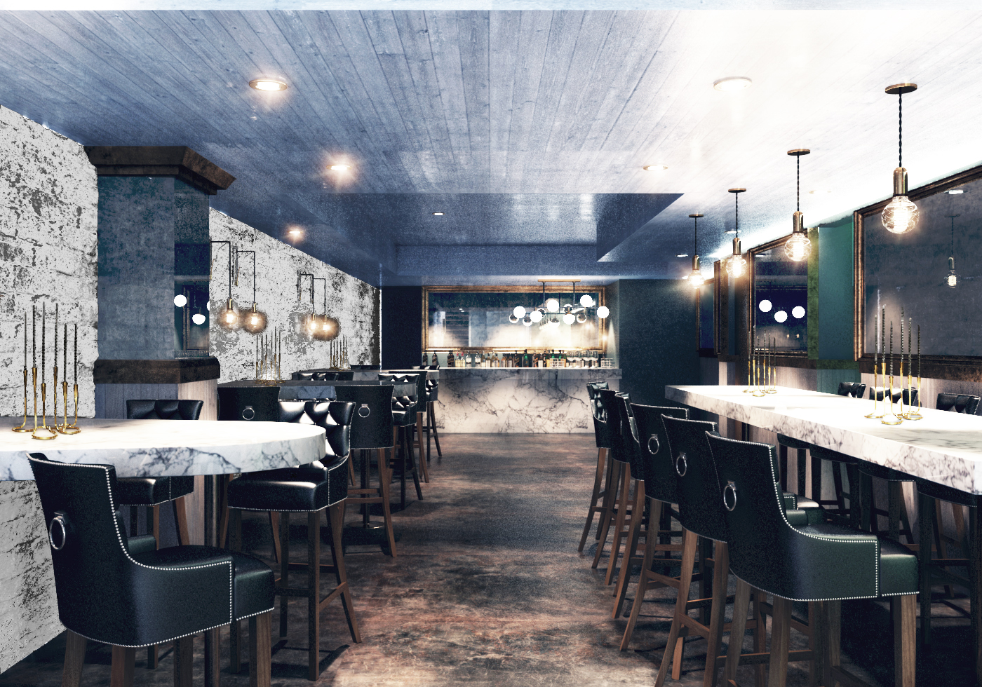 Rendering of the basement of Third Coast Provisions