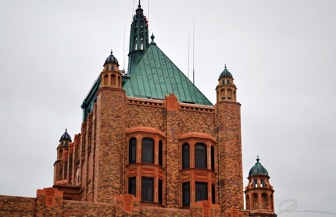 The top of the Bell Building.