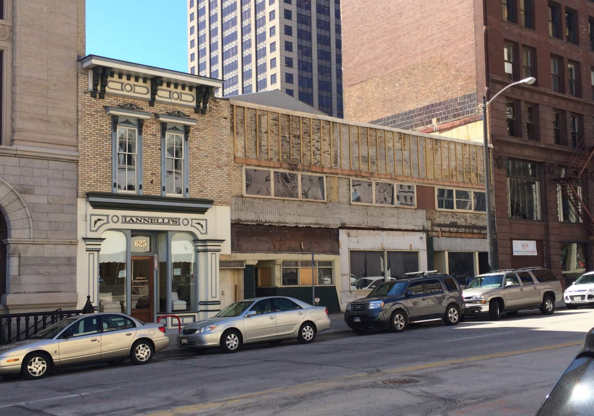 Before Construction - 627-637 N. Broadway