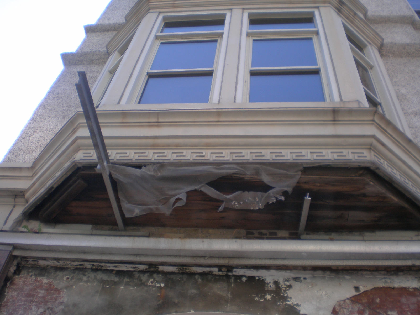 Old Awning Removed from Colby Abbot