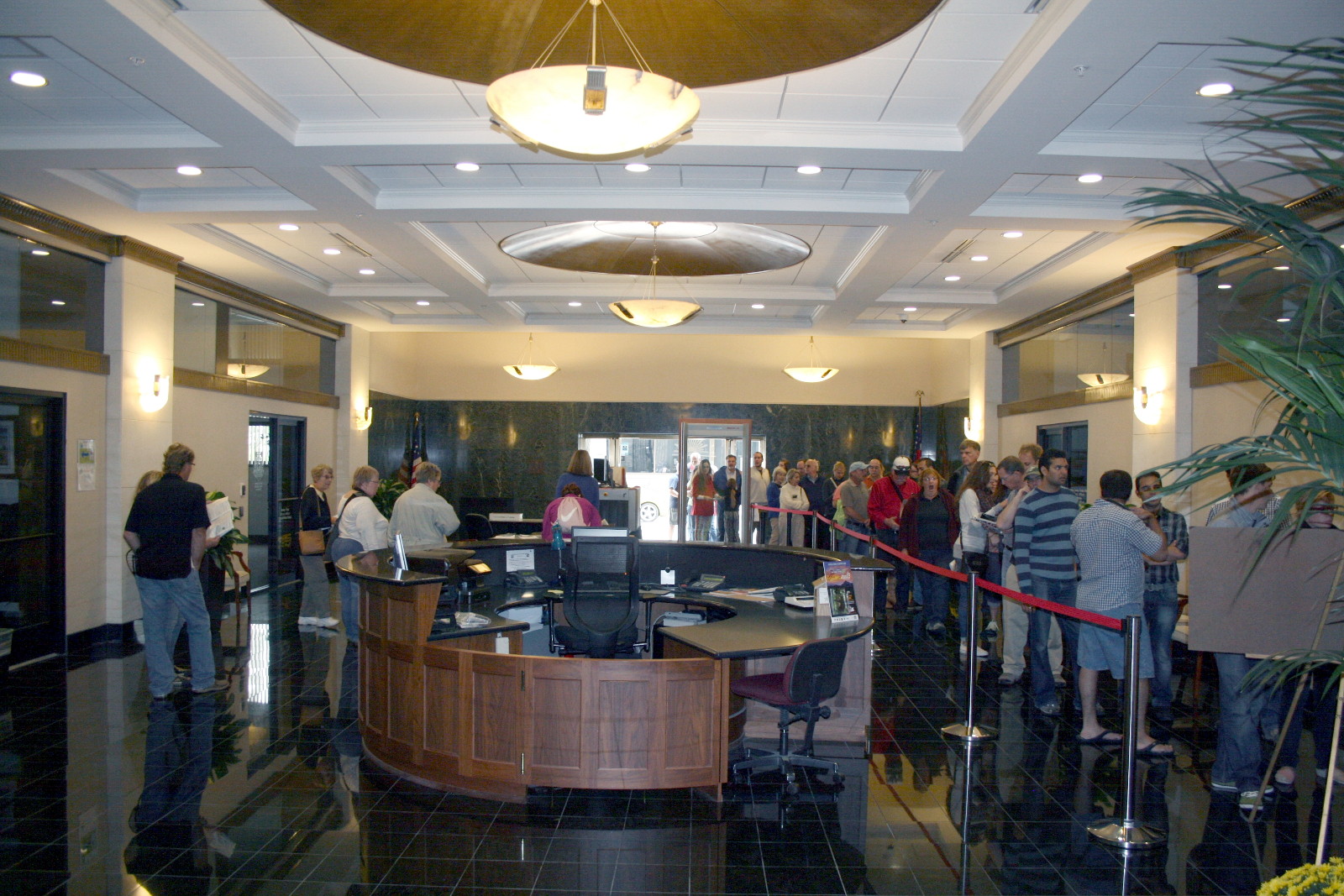 Lobby of the Wisconsin Gas Building.