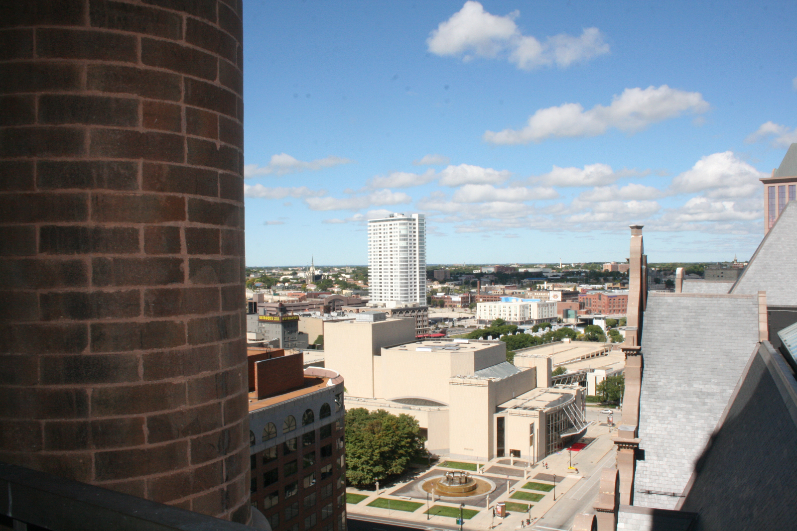 A view of The Moderne from City Hall\'s rooftop.