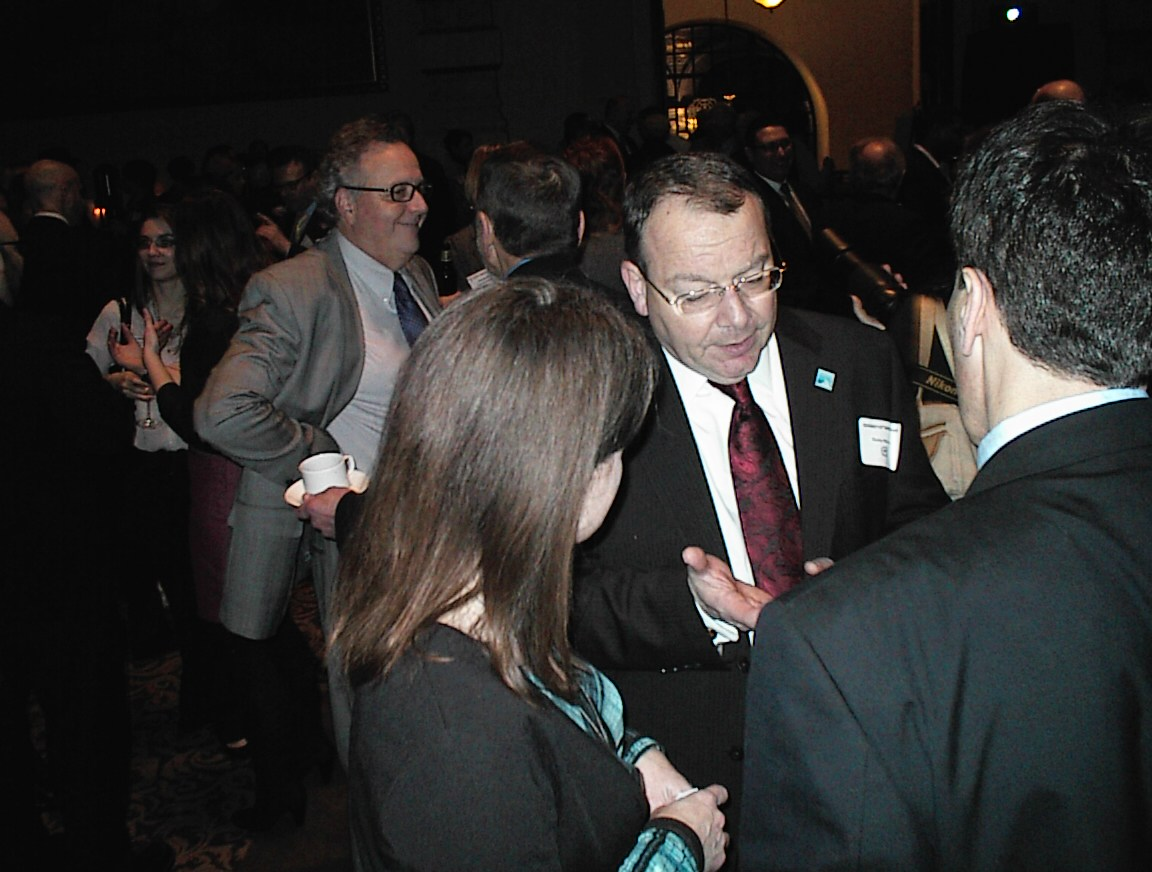 DCD Commissioner Rocky Marcoux chats it up.