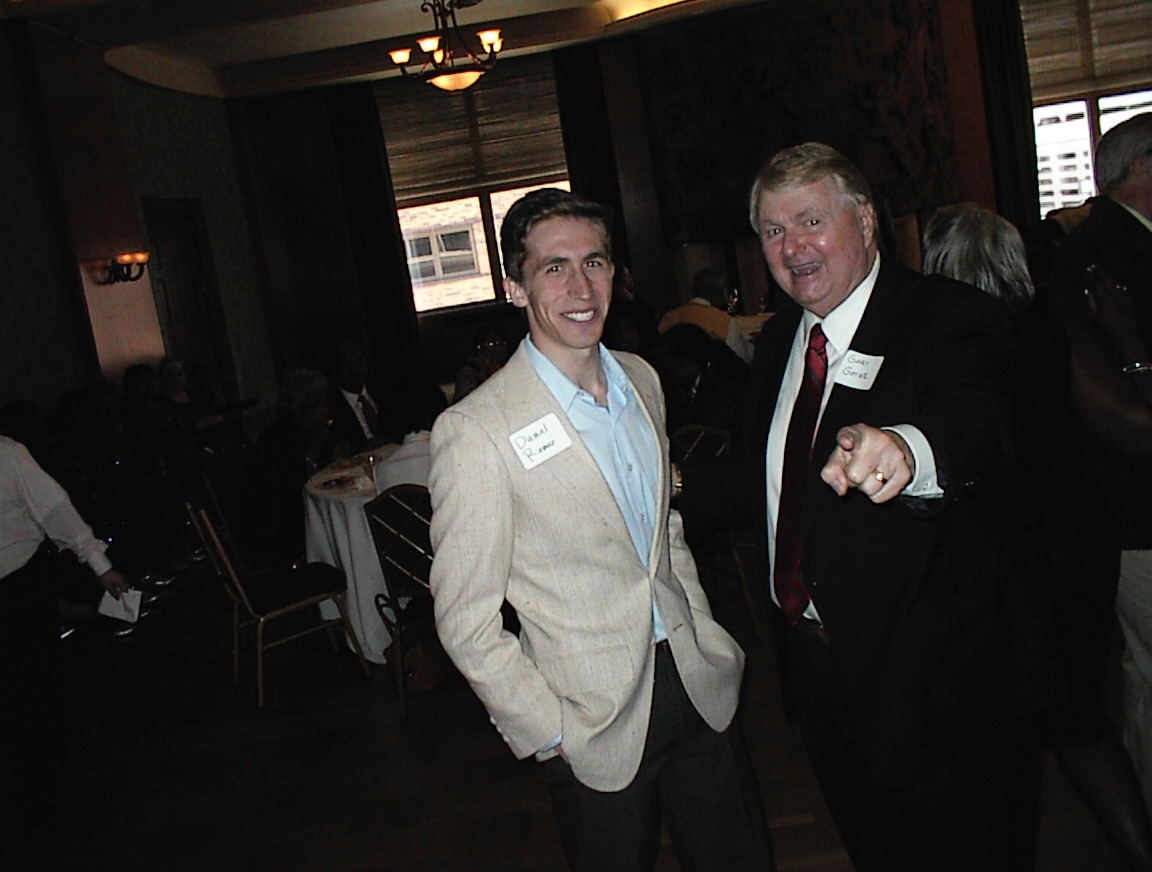 Daniel Riemer and Gary Goyke at Gween Moore\'s birthday party.
