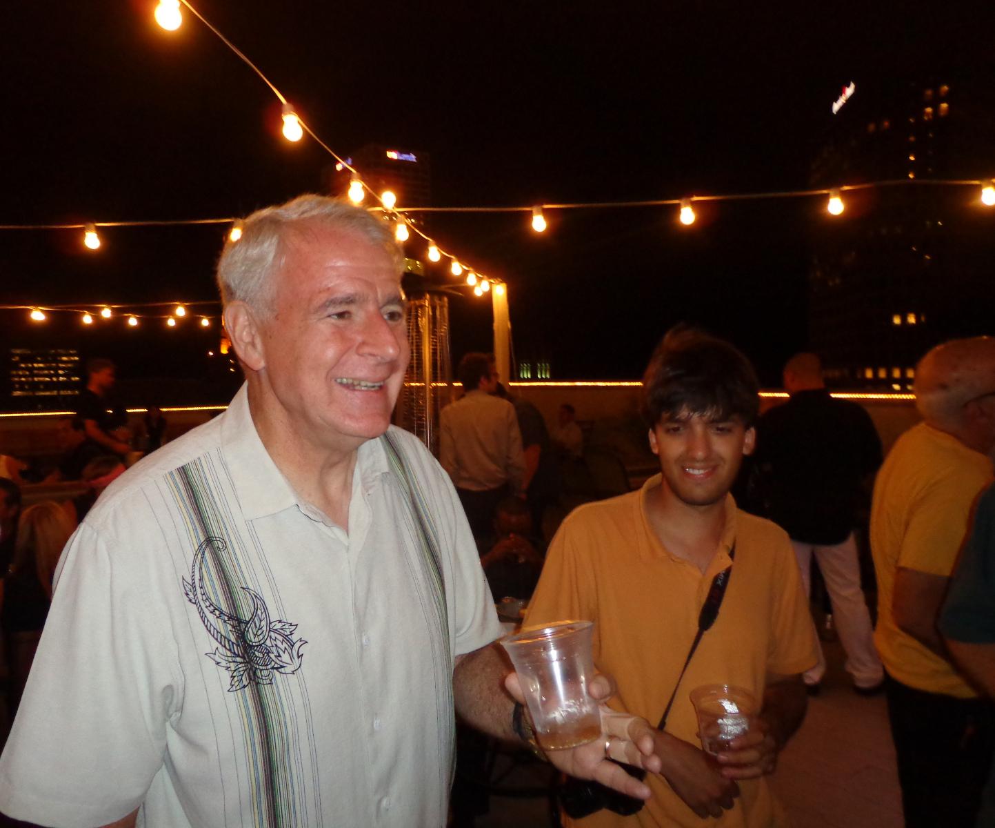 Mayor Tom Barrett and Garrick Jannene