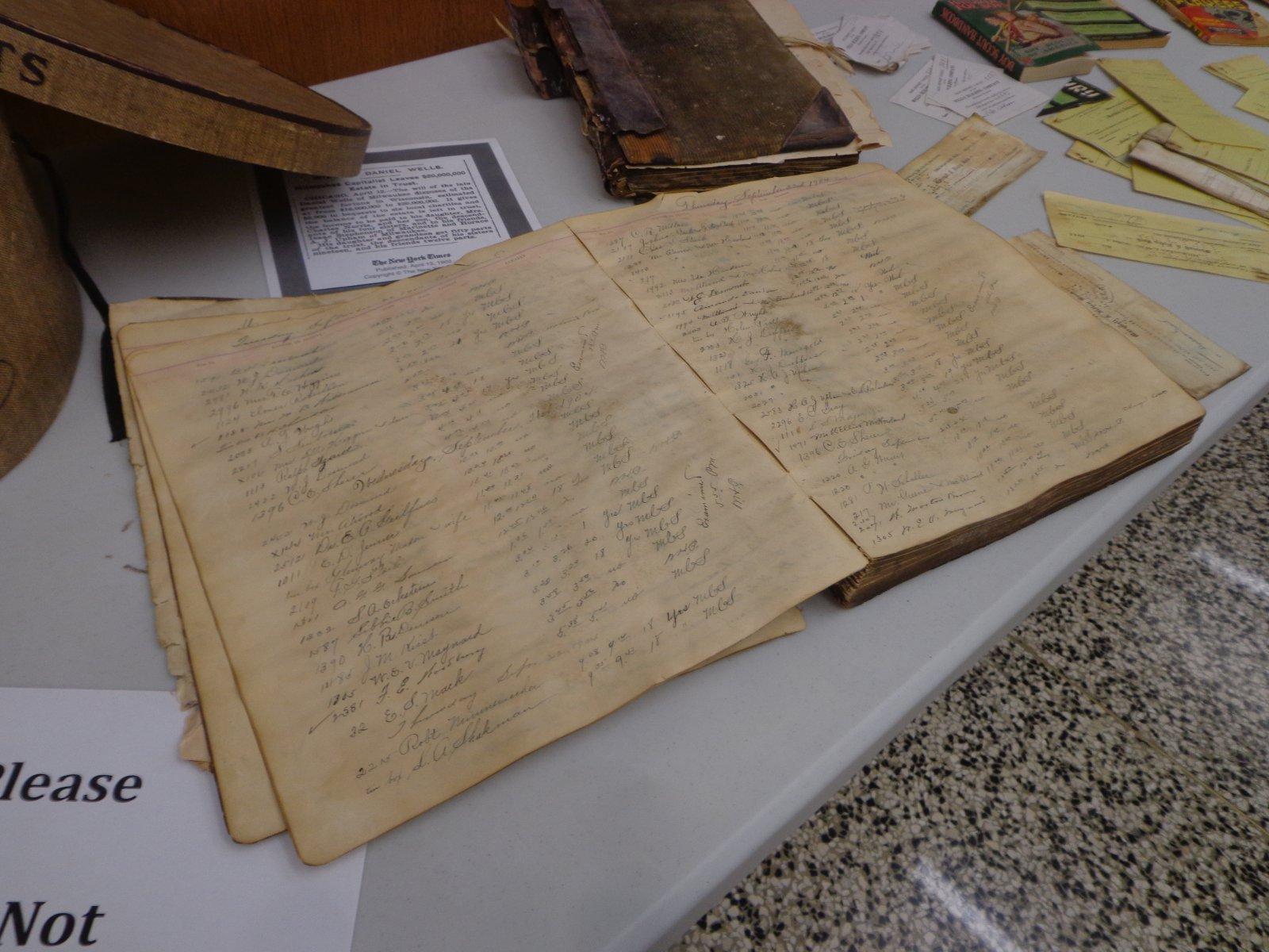 Historic visitor log.