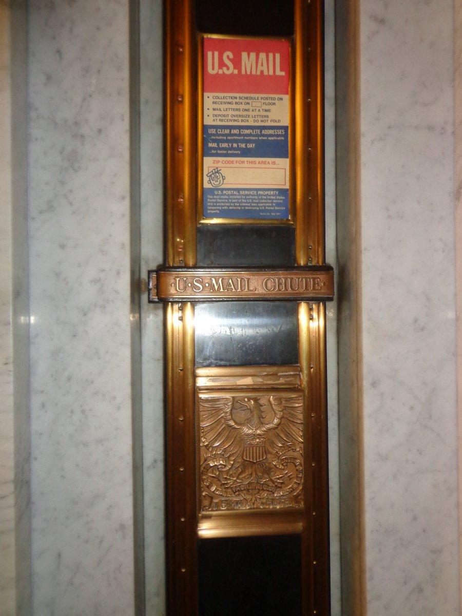 U.S. Mail chute.