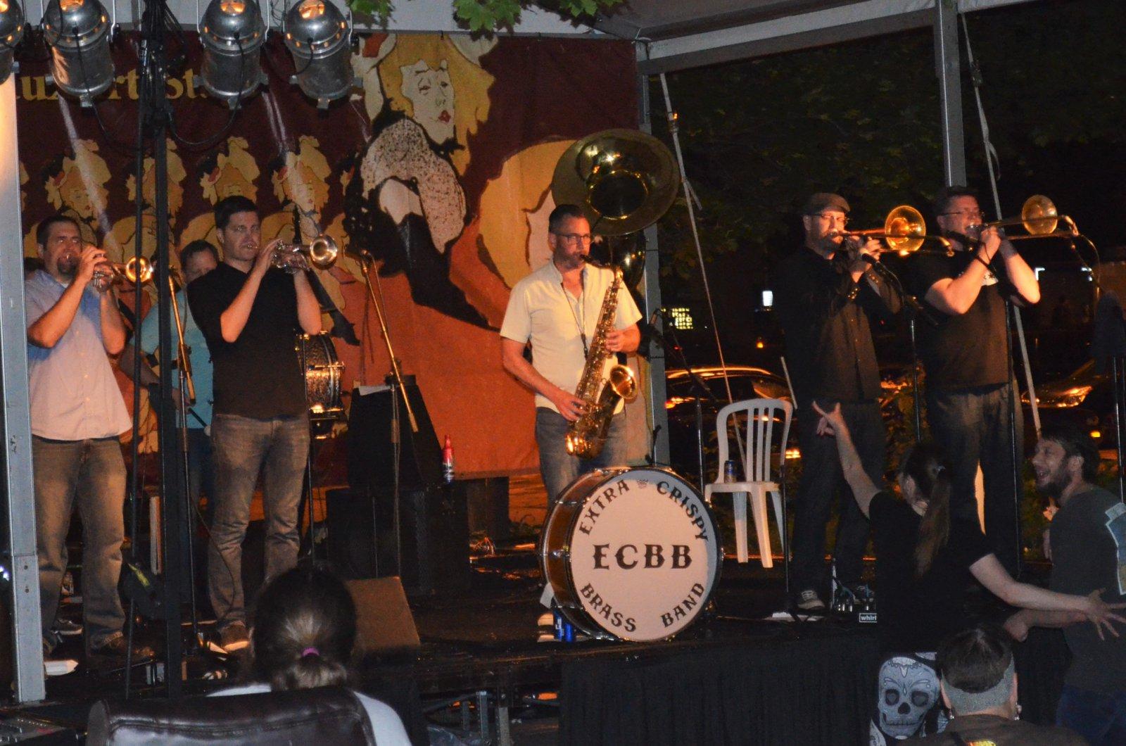 Extra Cripsy Brass Band at Bastille Days