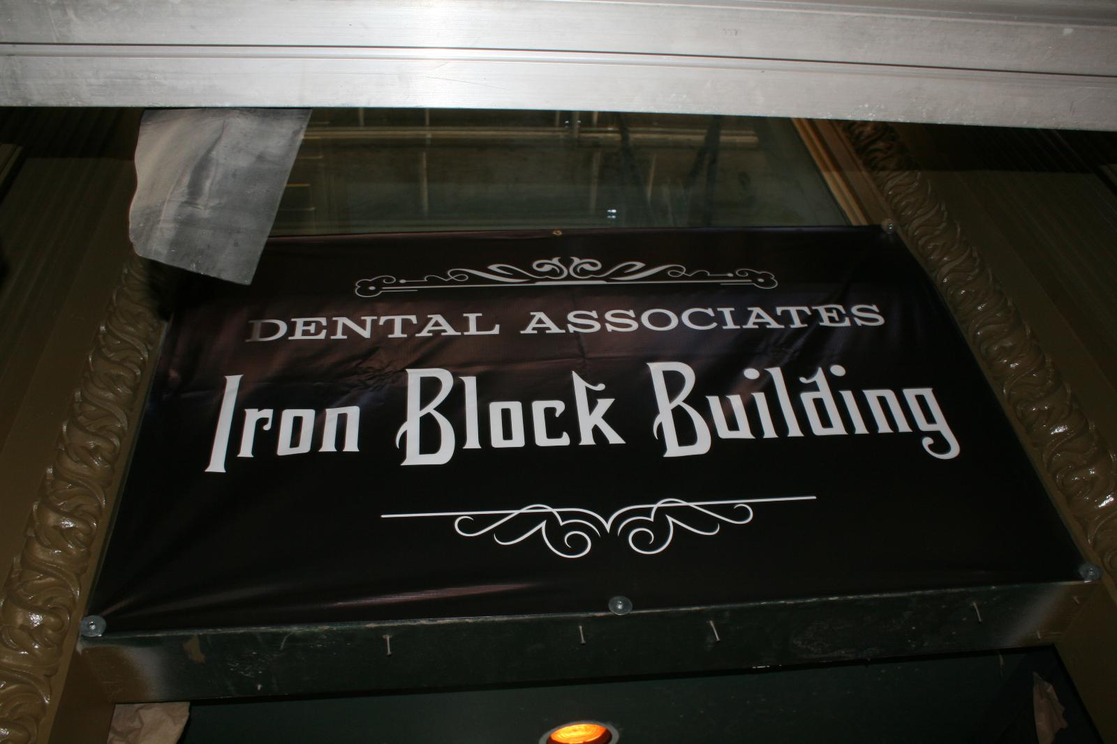 The Iron Block Building.