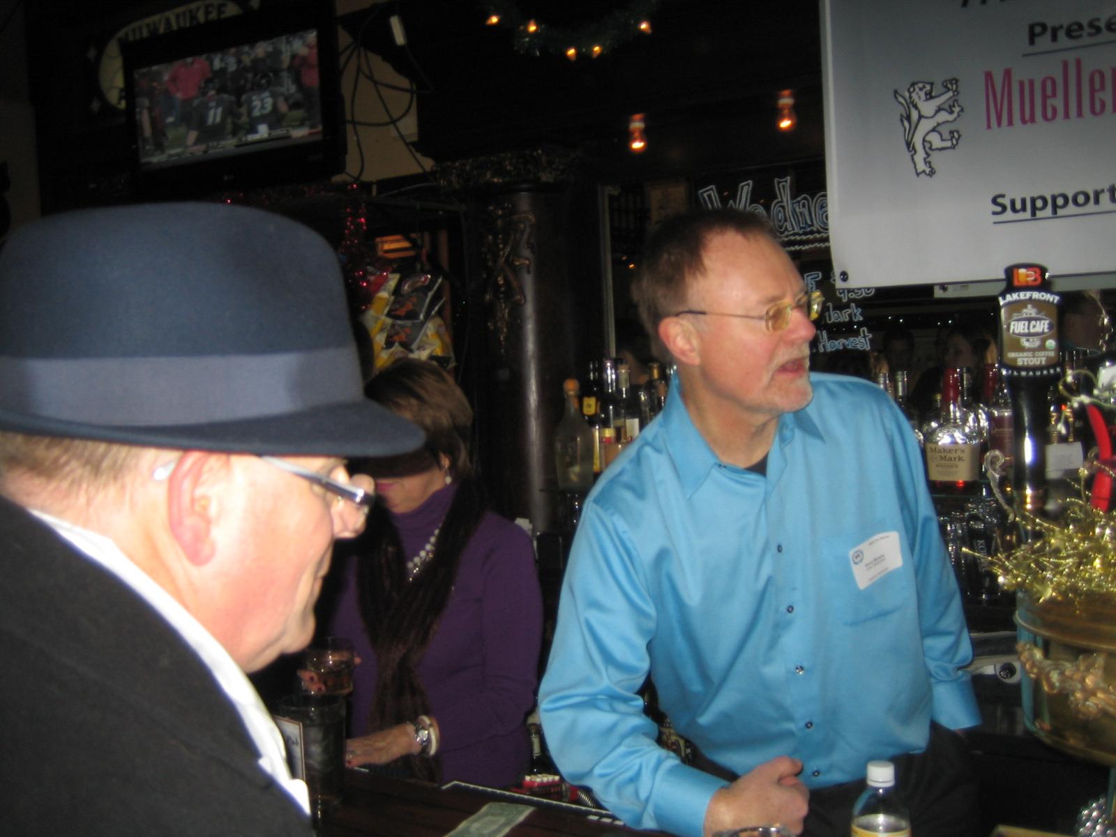 Bruce Murphy working the bar.