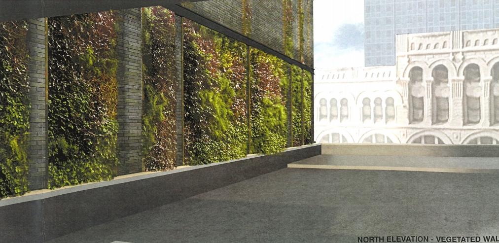 Vegetated Wall Plan for Kinn Hotel