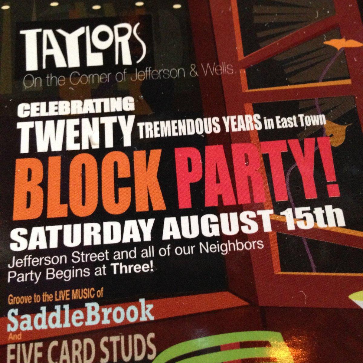 Celebrating twenty tremendous years in East Town