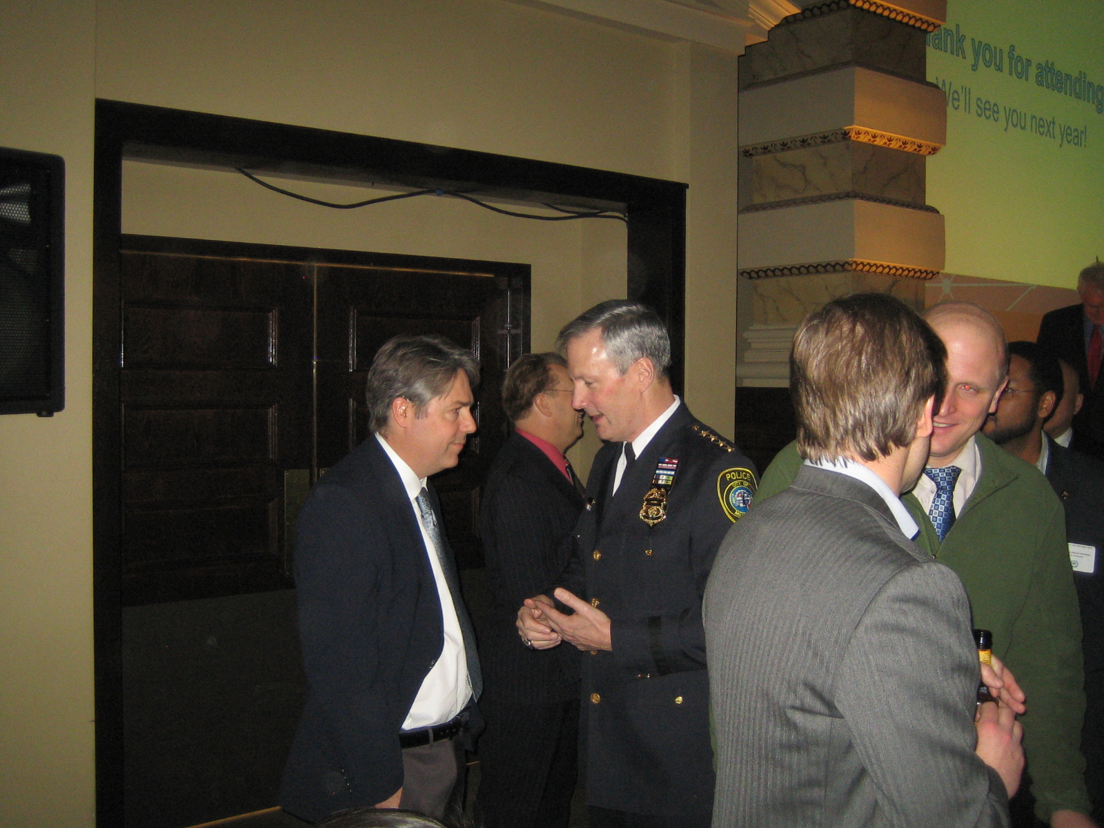 Ald. Michael Murphy (l), Chief Edward Flynn (r)