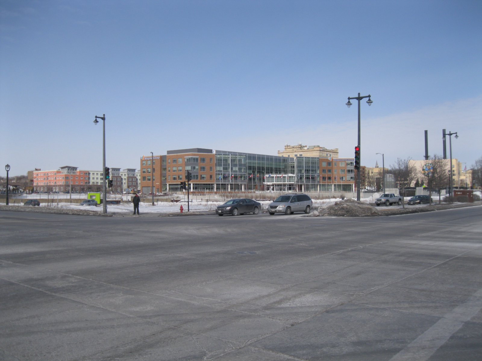 Intersection of N. Water and E. Knapp streets - looking northwest.