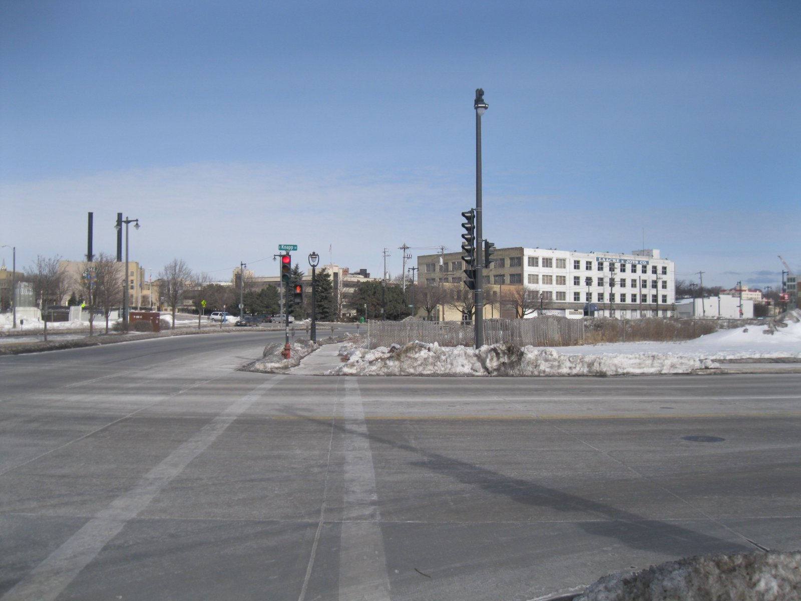 Intersection of N. Water and E. Knapp streets - looking north.