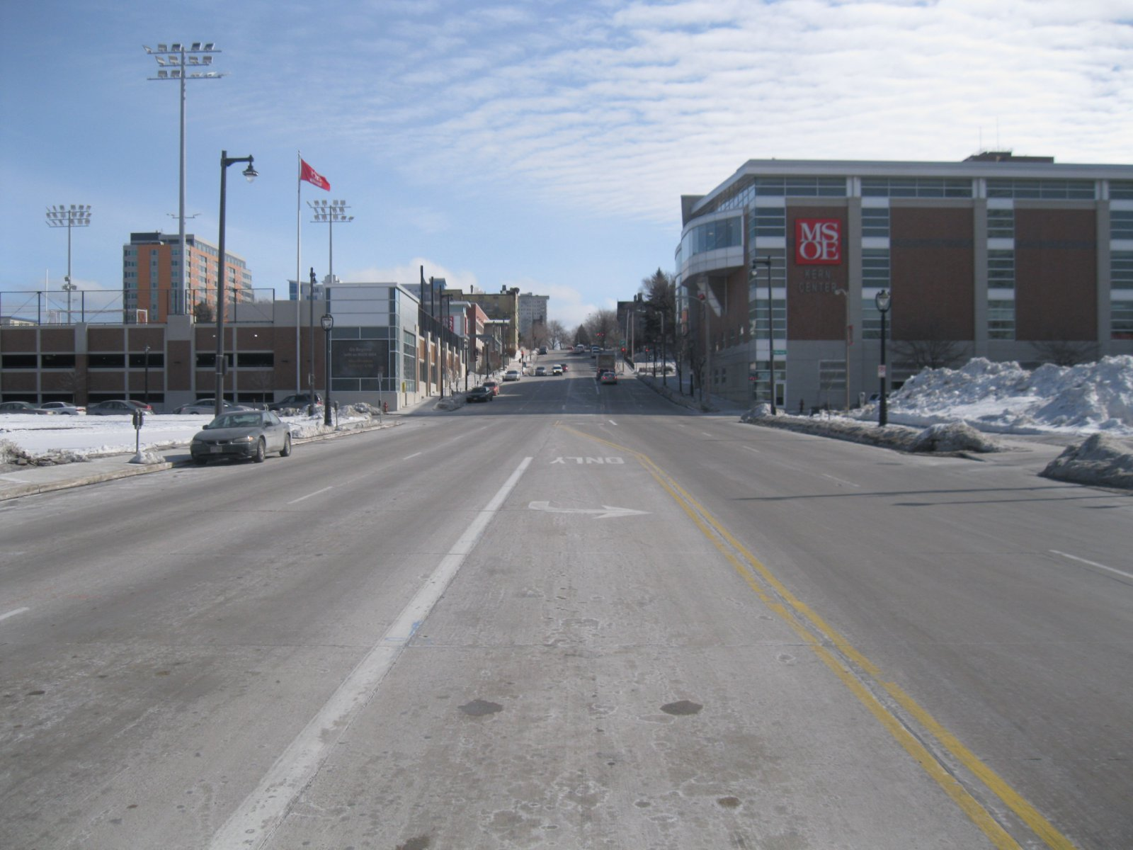 Intersection of N. Water and E. Knapp streets - looking east.
