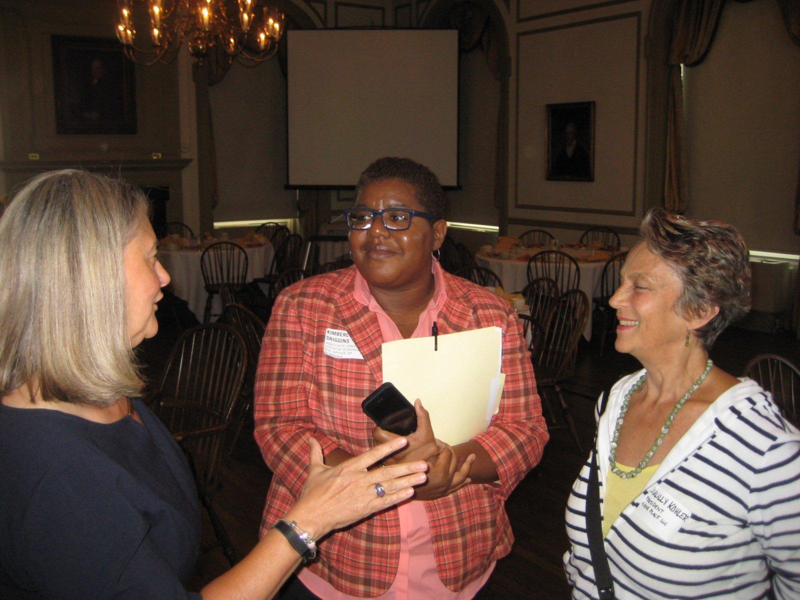 Julia Taylor, Kimberly Driggins, and Julilly Kohler.