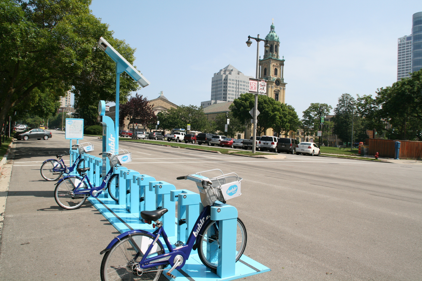Bublr Bikes at Cathedral Square