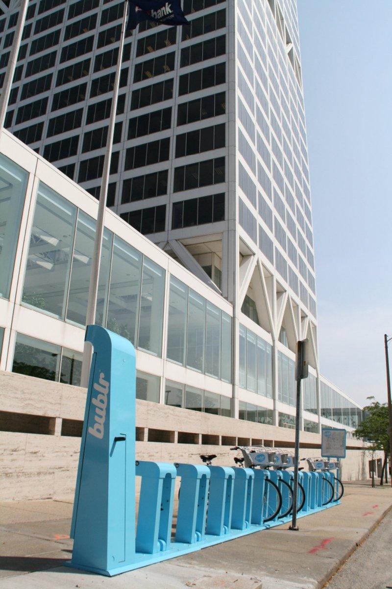 Bublr Bikes at US Bank Center