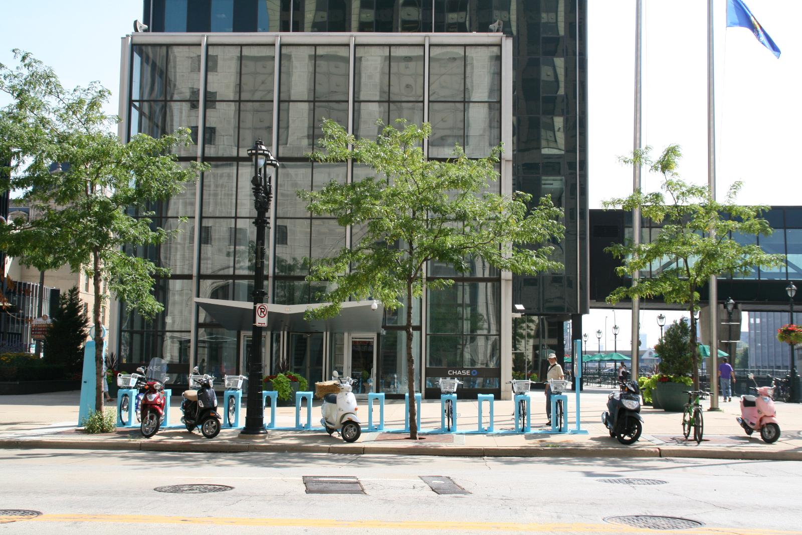 Bublr Bikes at Chase Tower