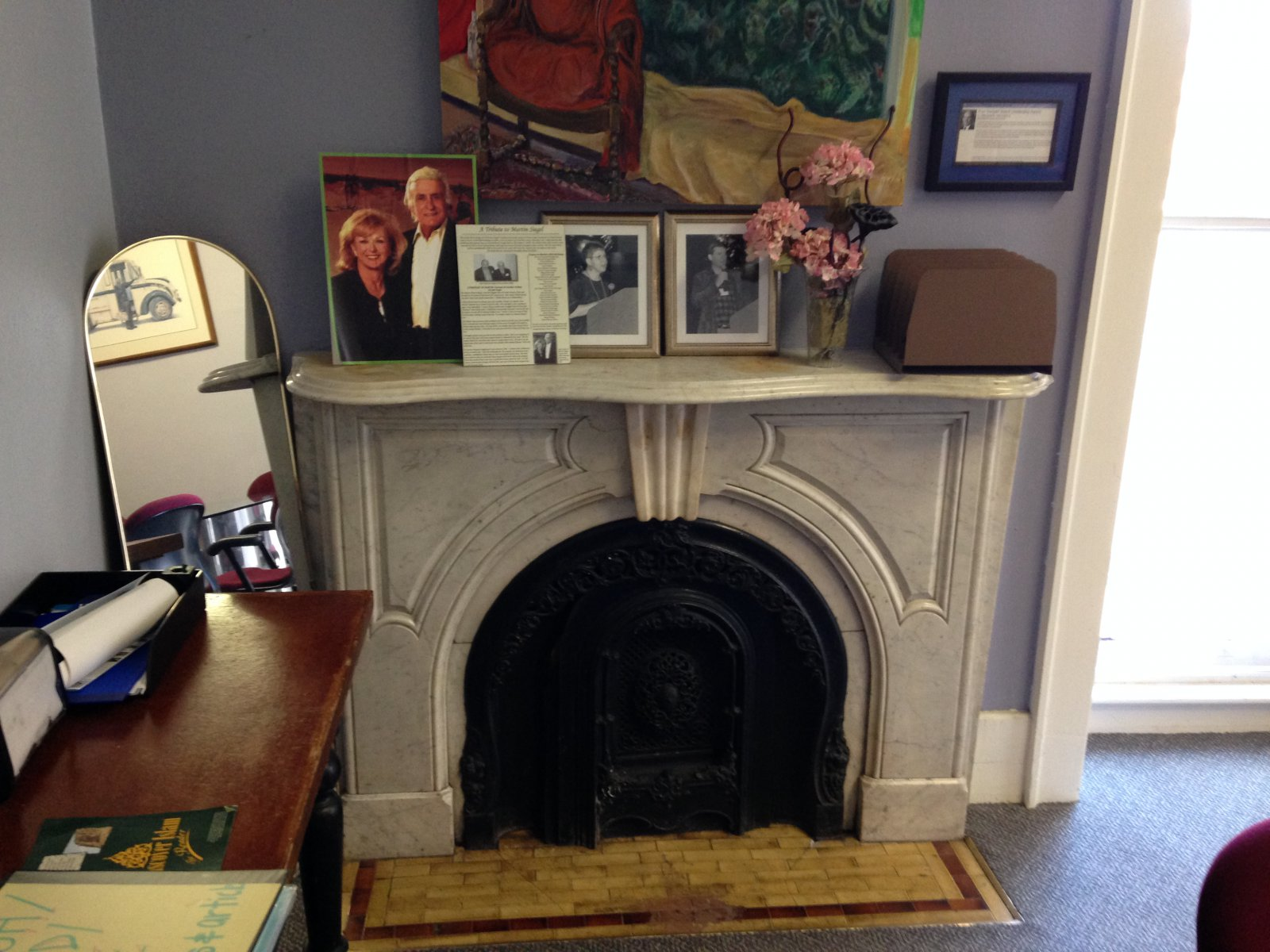 Fireplace inside the Bank of Milwaukee Building