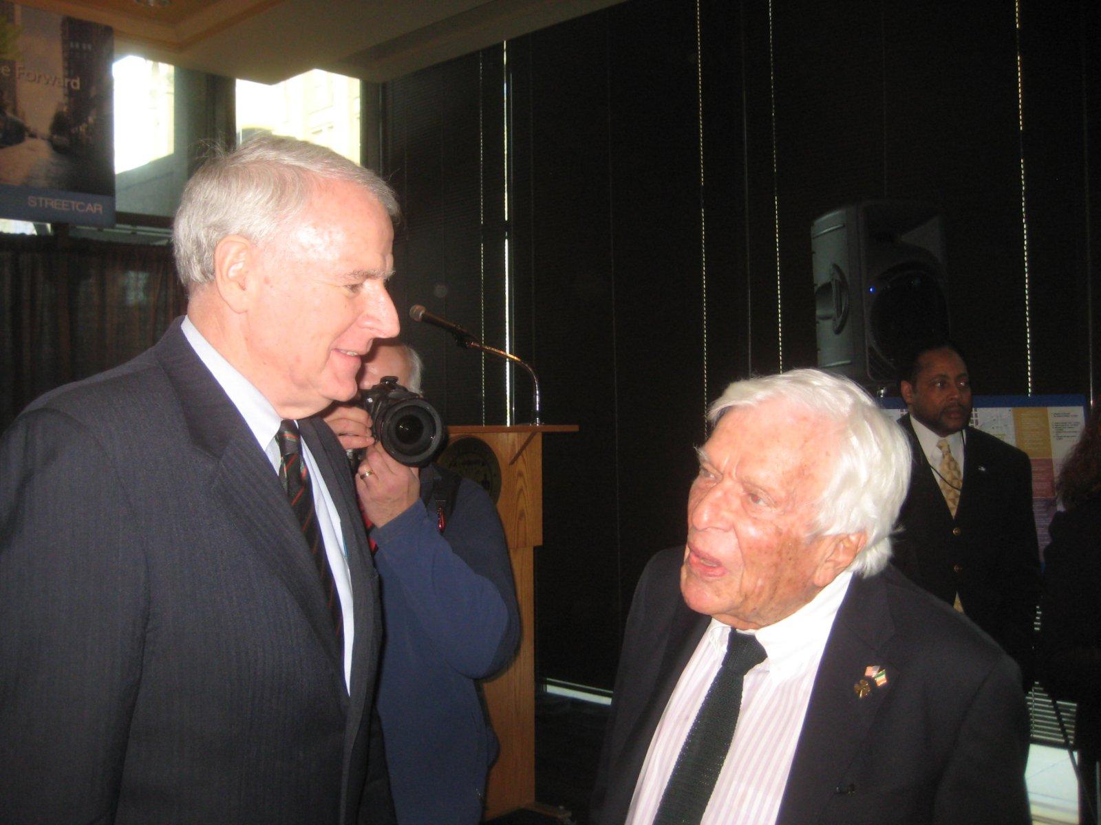 Mayor Tom Barrett and Michael Cudahy.