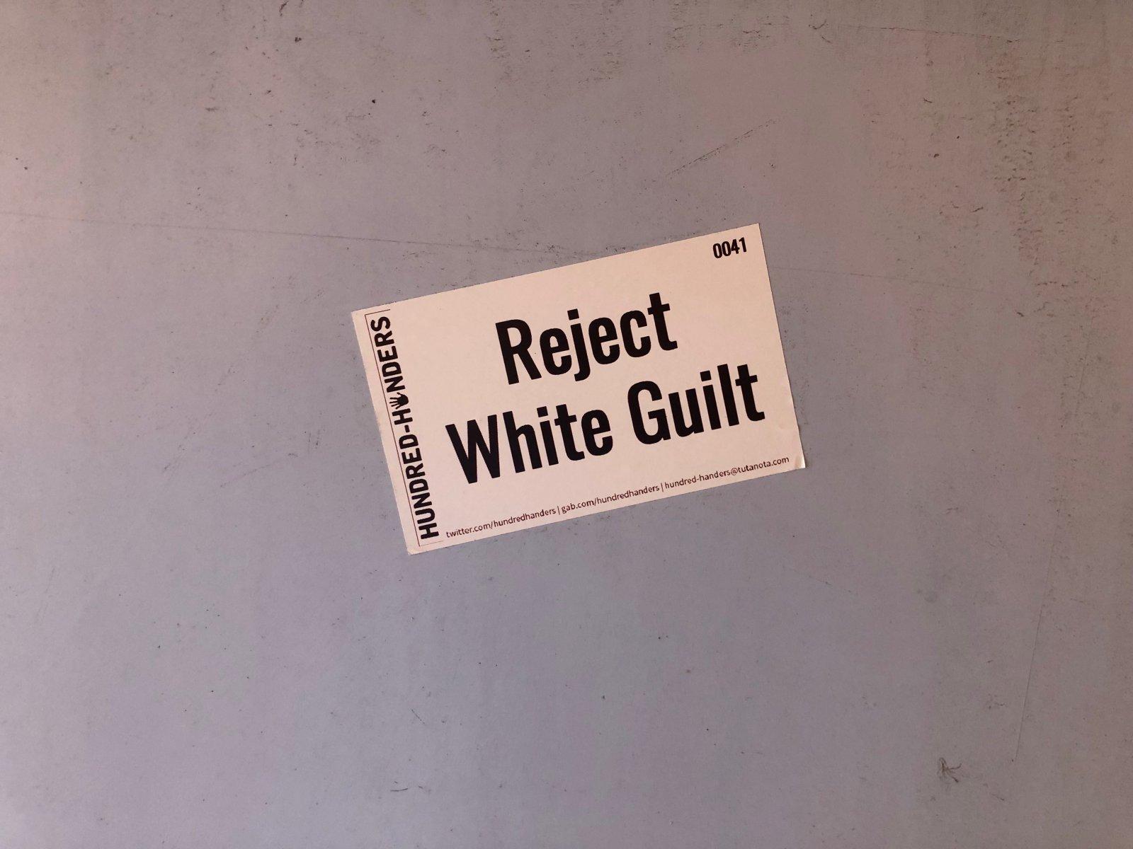 White Supremacy Sticker