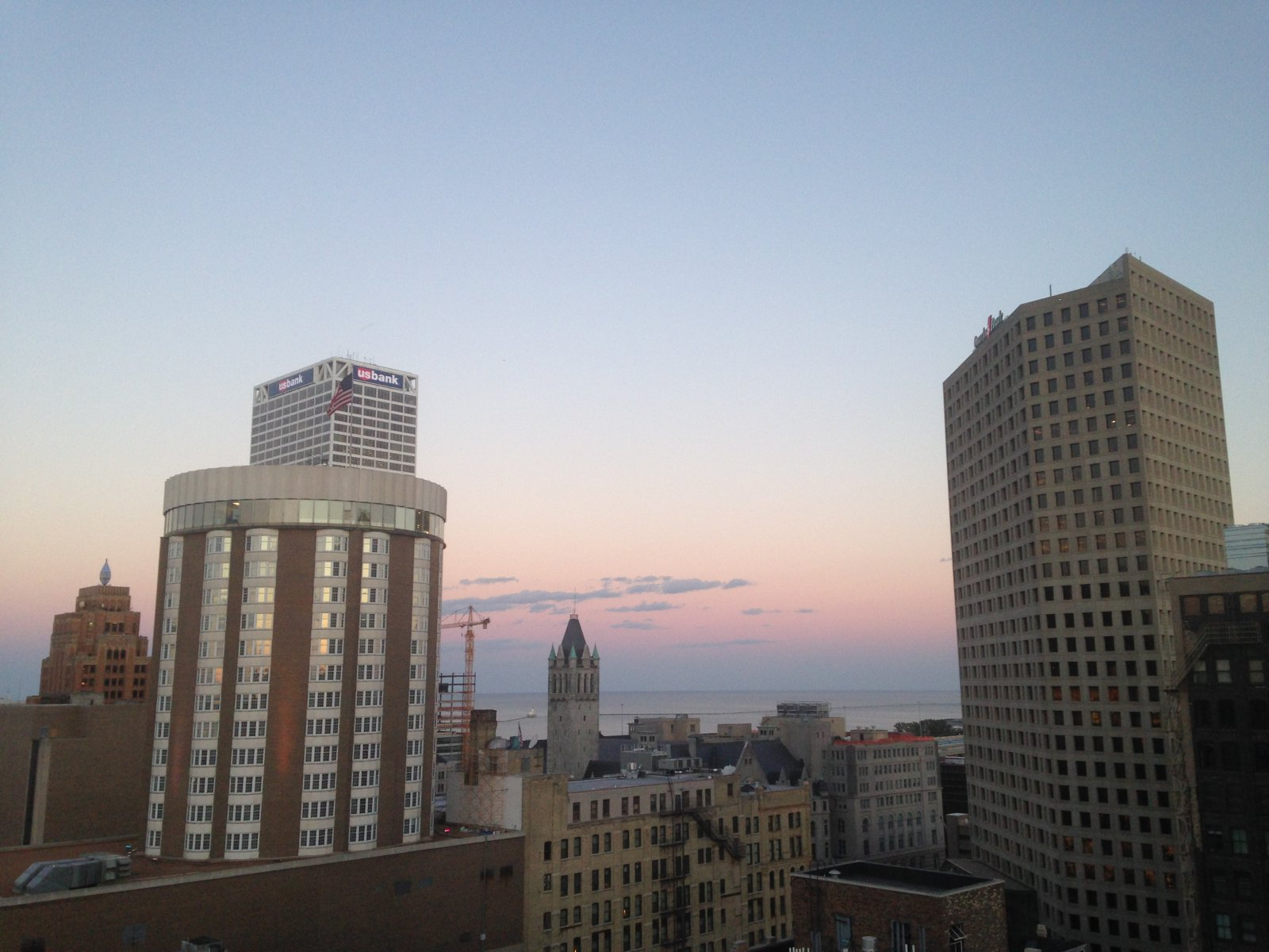 The view from the top of the Milwaukee Athletic Club.
