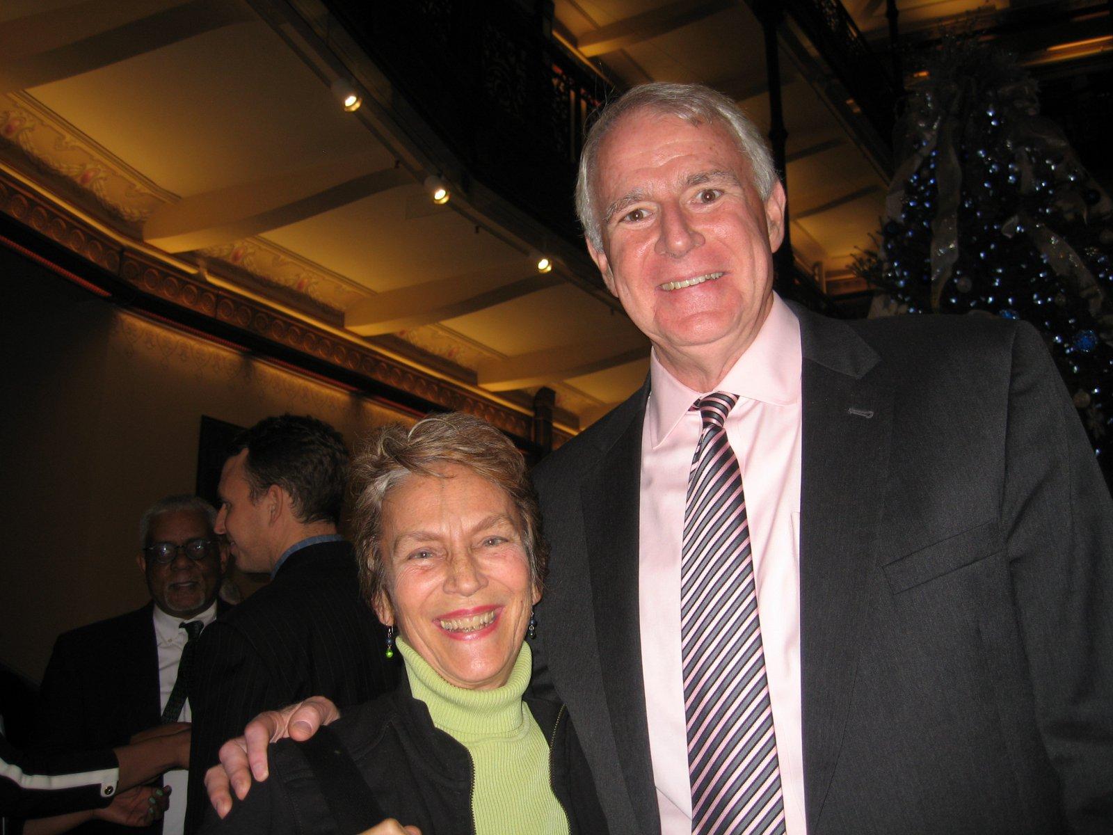 Julilly Kohler and Mayor Tom Barrett